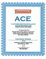 Lightning Towing won the ACE Award