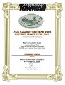 ace certificate of excellence
